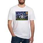 Starry-AussieCattlePup2 Fitted T-Shirt
