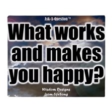 What Works Question Poster Throw Blanket