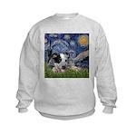 Starry-AussieCattleDogPup Kids Sweatshirt