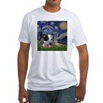 Starry-AussieCattleDogPup Fitted T-Shirt