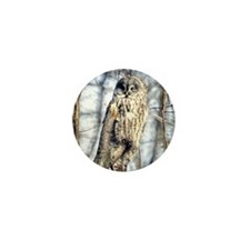 Great Gray Owl Mini Button