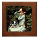 Ophelia - Aussie Cattle Pup Framed Tile