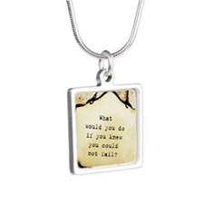No Failure Silver Square Necklace
