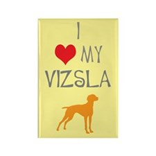 I Heart My Vizsla Rectangle Magnet