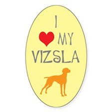 I Heart My Vizsla Oval Decal