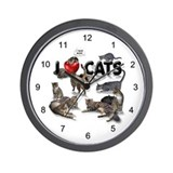 "Wall Clock ""I Love Cats"""