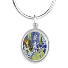 Vintage Wizard of Oz Silver Oval Necklace