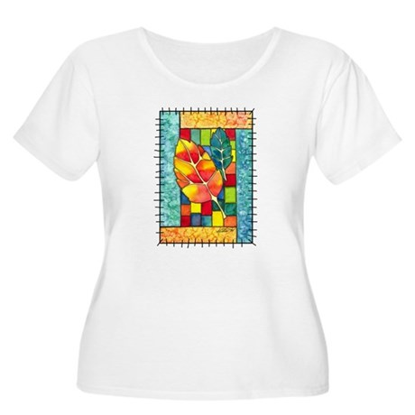 Autumn Quilt Women's Plus Size Scoop Neck T-Shirt