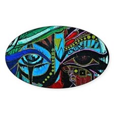 Warrior Vision Colorful Abstract Pa Decal