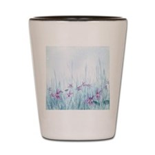 Winter Violets Shot Glass