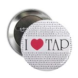 "I Love Tap 2.25"" Button (100 pack)"