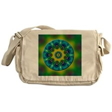 Rainbow Mandala Fractal Art Messenger Bag
