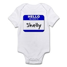 hello my name is shelly  Infant Bodysuit