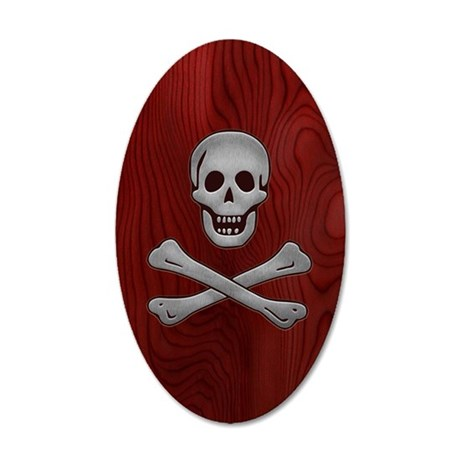 steelwood-pirate-PHN 35x21 Oval Wall Decal