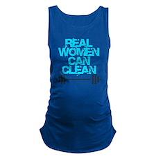 Real Women Can Clean (Light Blu Maternity Tank Top