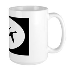 duck ducks hunting oval sticker Mug