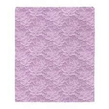 Romantic Lace African Violet Throw Blanket