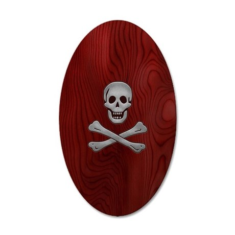 steelwood-pirate-PHNz 35x21 Oval Wall Decal