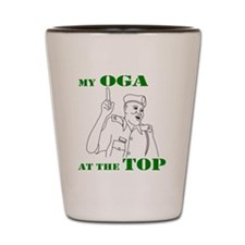 Oga at the top Shot Glass