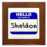 hello my name is sheldon  Framed Tile