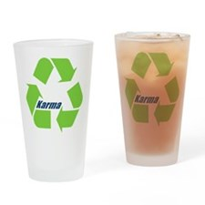 Karma Symbol Drinking Glass