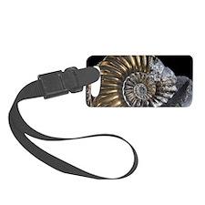 Pyritised Ammonite Fossil Luggage Tag