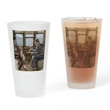 Sherlock Holmes and Dr. Watson Drinking Glass