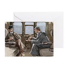 Sherlock Holmes and Dr. Watson Greeting Card