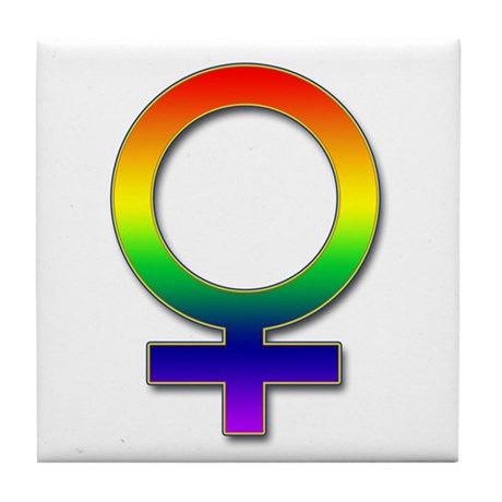 Rainbow Women's Symbol Tile Coaster