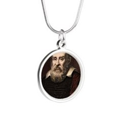 1636 Galileo Galilei portrai Silver Round Necklace