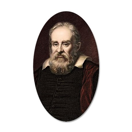 1636 Galileo Galilei portrai 35x21 Oval Wall Decal