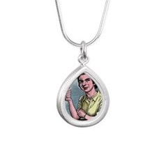 Rosalind Franklin, Briti Silver Teardrop Necklace