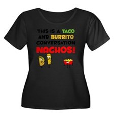 Taco and Women's Plus Size Dark Scoop Neck T-Shirt