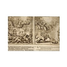 1682 Bible Hydra - Beast of Apoca Rectangle Magnet