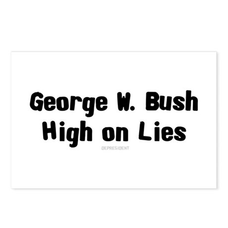 George W. Bush - High on Lies Postcards (Package o
