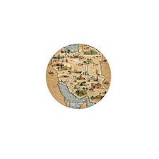 Iran, pictorial map Mini Button