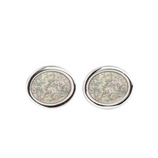 Map Darwin's Beagle Voyage South America Cufflinks