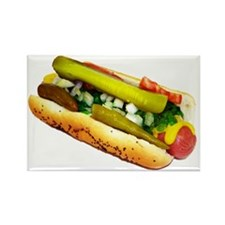 Chicago Dog Rectangle Magnet