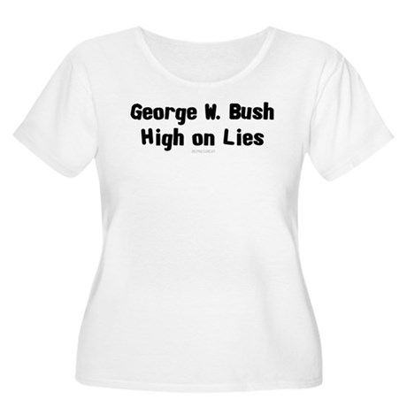 Bush - High on Lies Womens Plus Size Scoop Neck T