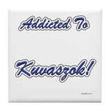 Kuvasz Addicted Tile Coaster