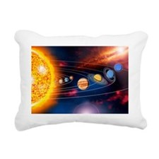 Solar system planets Rectangular Canvas Pillow