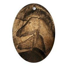 Stone-age cave paintings, Chauvet, F Oval Ornament