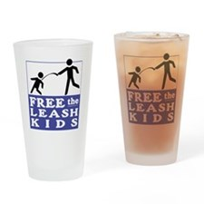 free+the+leash+kids Drinking Glass