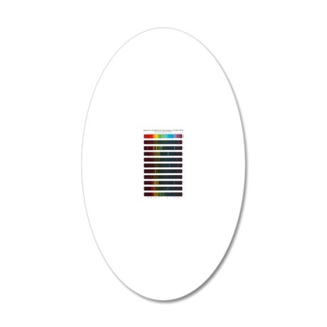 Flame emission spectra of al 20x12 Oval Wall Decal