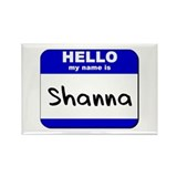 hello my name is shanna Rectangle Magnet