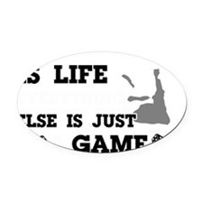 Brazilian Jiu Jitsu is life Oval Car Magnet