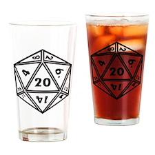 d20 Drinking Glass