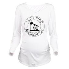 Certified American O Long Sleeve Maternity T-Shirt