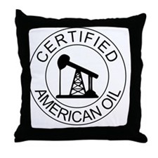Certified American Oil Pro-Drilling P Throw Pillow