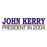 John Kerry: President in 2004 (sticker)
